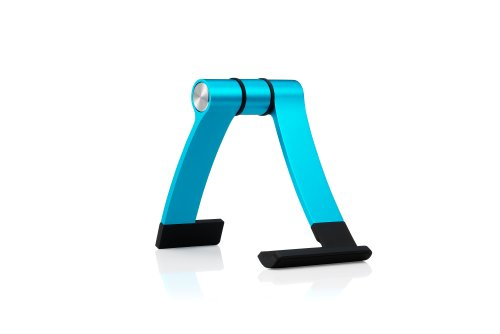 Cooler Master JAS mini - Portable Aluminum Display Stand for Smartphones and Tablets (iPhone 6 Plus, iPhone 6, Galaxy S5, One M8, G3, iPad mini and More) (Sky Blue)