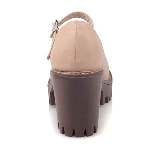 Pour Simples Talon Chaussures Épais Femmes À Qiusa qXwpUnzz7