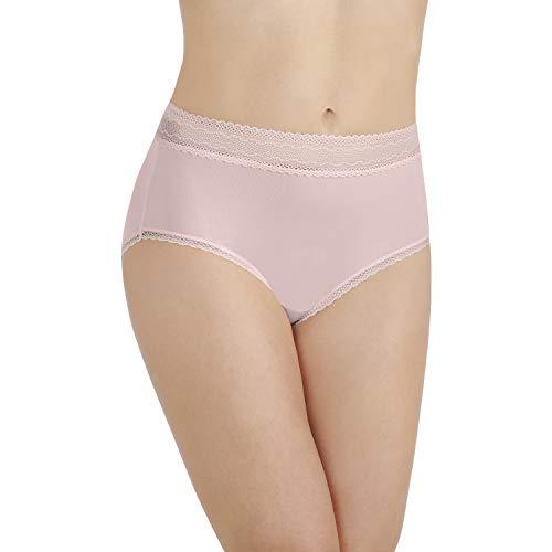 Vanity Fair Women's Flattering Lace Brief Panty 13281, Sheer Quartz, 2X-Large/9 (Sheer Brief Panty)