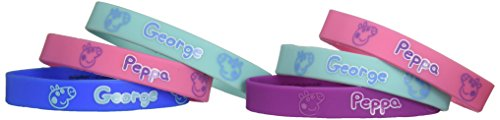 amscan Rubber Bracelet Favors | Peppa Pig Collection