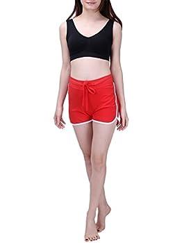Hde Women's Retro Fashion Dolphin Running Workout Shorts (Red, Medium) 4
