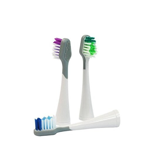 Replacement Toothbrush Heads For Waterpik Sensonic Toothbrush, STRB-3WW 3 count