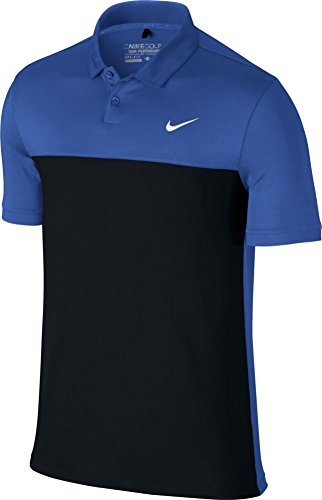 Nike Golf CLOSEOUT Men's Icon Color Block Polo (Game Royal/Black) 725527-481 (Large) by Nike
