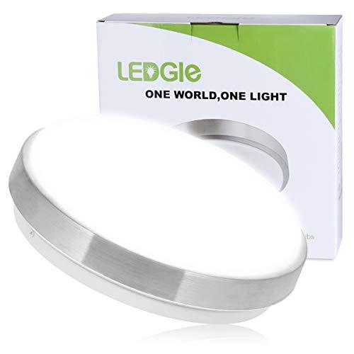 LEDGLE 13W LED Ceiling Lights, 10in, 110W Incandescent Bulbs Equivalent, 960lm, Lighting for Bathroom, Kitchen, Hallway, Flush Mount Ceiling Light, 6000K Daylight White