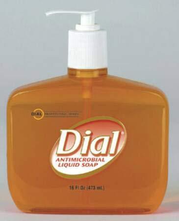 (Dial Professional 80790 Liquid Dial Gold Antimicrobial Soap Pump 16 Oz. (Case of)