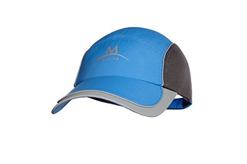 Mission Athletecare Enduracool Competition Cooling Hat, Blue/Charcoal