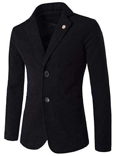 Suit Jacket Slim Solid Two Black Mens Jacket Separate Button security Blazer Casual Fit OCzUnq6w