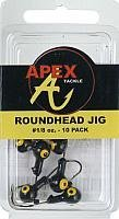 Jig Head Game Big - Apex Freshwater Round Fishing Jig Head, Black, 1/8-Ounce