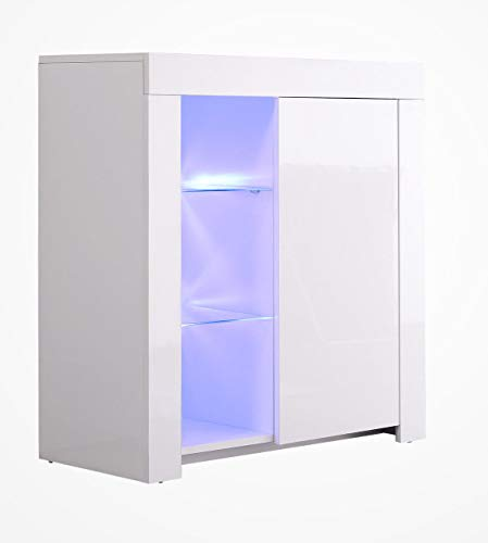 High Gloss Sideboard With Led Lights in US - 8