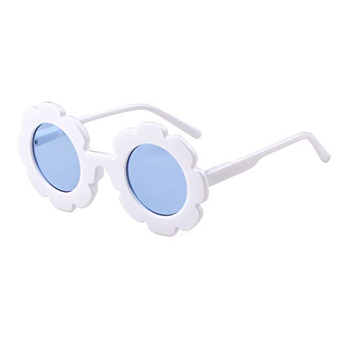 Sunglasses for Kids Round Flower Cute Glasses UV 400 Protection Children Girl Boy ()