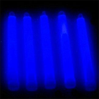6″ Premium Lumistick Glow Light Sticks Blue (Tube of 25)