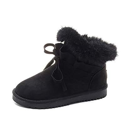 Amazon.com: Fumak 2018 Winter Fur Snow Boots Women Slip-On