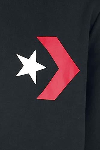 Nero Hoodie Converse Cappuccio converse Graphic Pullover 001 Black Uomo Star Chevron ZxXXrq0I