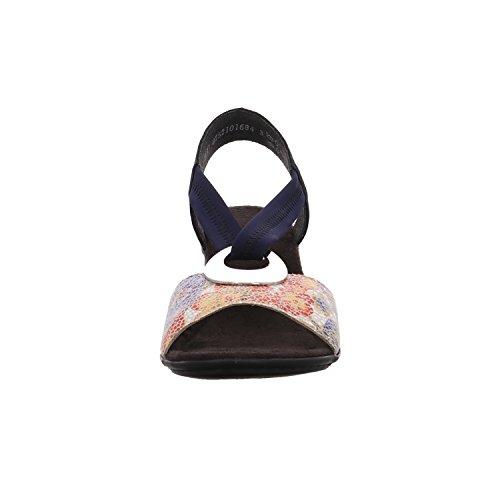 Rieker V6263, Sandalias Punta Cerrada para Mujer Multicolor (Weiss-multi/pazifik/navy)