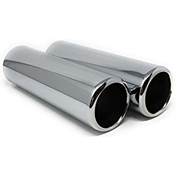 """2.25/"""" Outlet 2/"""" Inlet Stainless Steel Exhaust Pencil Tip 9/"""" Long"""