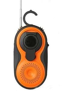 Aquabourne - Radio FM/AM para ducha con dinamo y USB