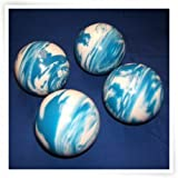 Premium Quality EPCO 4 Ball 107mm Tournament Bocce Set - Marbled Blue/White [Toy]