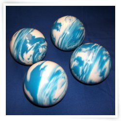 Premium Quality EPCO 4 Ball 107mm Tournament Bocce Set - Marbled Blue/White [Toy] by Epco