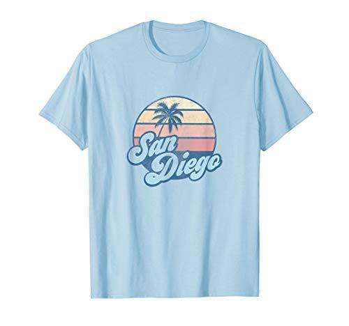 San Diego California CA T Shirt Vintage 70s Retro Surfer ()
