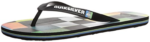 Quiksilver Men's Molokai Resin Check Sandal, Black/Blue/Green, 9 M US (Green Line Cruisers)