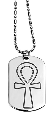 (YTC Summit Ankh Dog Tag - Collectible Medallion Necklace Accessory Jewelry)