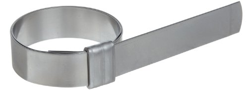 BAND-IT JS2069 Junior 5/8'' Wide x 0.030'' Thick, 1-3/4'' Diameter, 201 Stainless Steel Smooth I.D. Clamp (100 Per Box) by Band-It