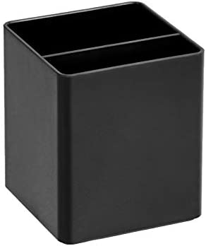 Amazon Basics Plastic Desk Organizer – Pen Cup, Black