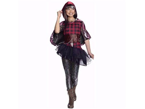 [Girls Cerise Red Riding Hood Ever After High Halloween Costume M 8-10] (Cerise Hood Ever After High Costume)