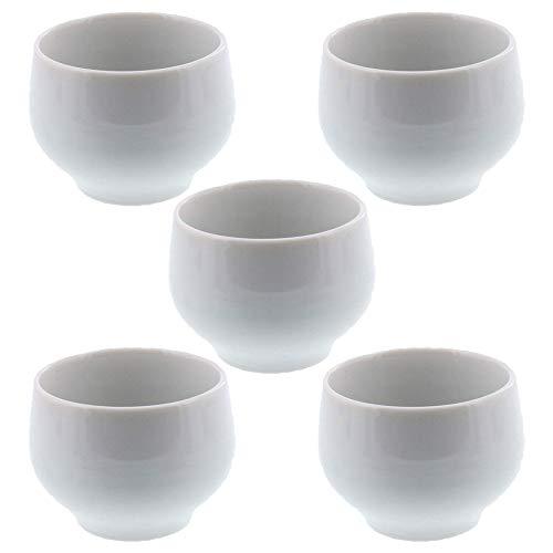 Zen Table Japan Simple Japanese Tea cup for Nihoncha Sencha Green Tea White Set of 5 -Made in Japan