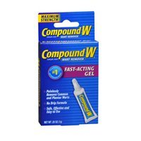 Compound W Maximum Strength, Fast-Acting Gel 0.25 oz (Pack of 5) by Compound W