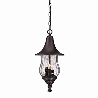 Acclaim 3406ABZ Del Rio Collection 3-Light Outdoor Light Fixture Hanging Lantern, Architectural Bronze