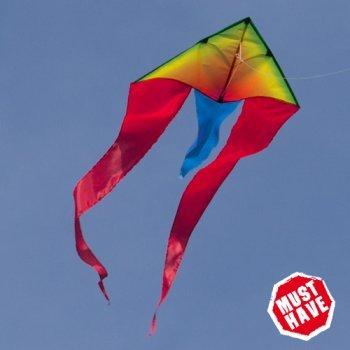 Einleiner-Drachen - F-Tail Rainbow MUSTHAVE - für Kinder ab 3 Jahren - Abmessung: 80x185cm - inkl. 40m Drachenschnur