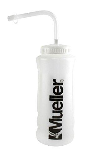 Mueller Quart Bottle w/Straw (New Design), Natural Color w/ Black Letters (1-Pack)