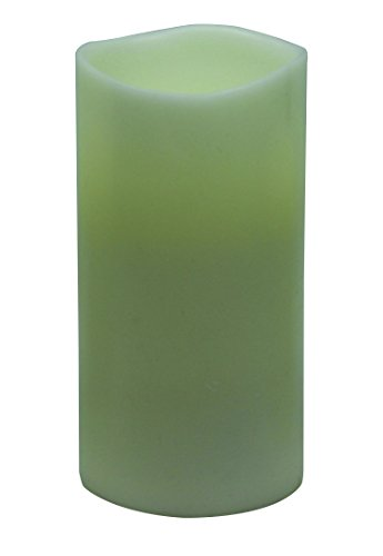 Gki Bethlehem Lighting Led - GKI/Bethlehem Lighting Encandra Pillar Candle, Smooth Ivory, 3 by 6-Inch