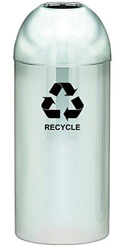 Witt Industries 415DT-PM-R Steel 15-Gallon Standard Open Top Indoor Recycling Receptacle with Galvanized Liner, Legend