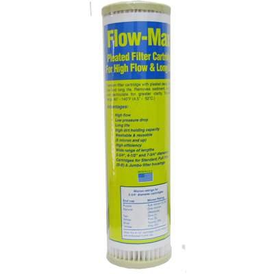 Watts (FM-5-975) 9.75''''x2.5'''' Flow-Max 5 Micron Pleated Filter by Watts