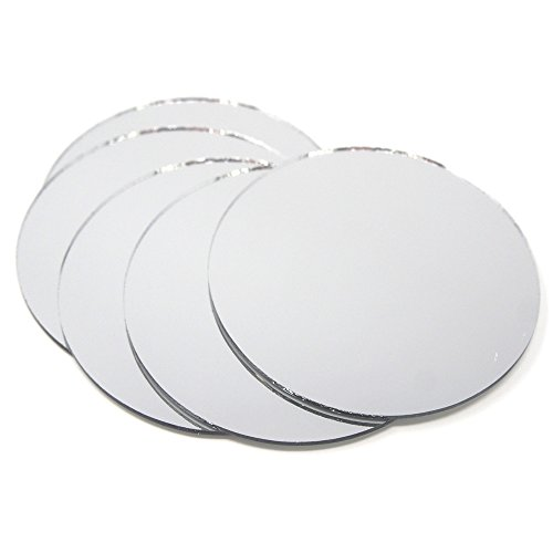 Mirrors Table Mirrors - Homeford Round Mirror Table Scatter, 4-Inch, 5-Count