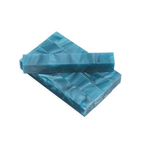 Legacy Woodturning, Acrylic Pen Blank, Turquoise Blue Pearl, 5