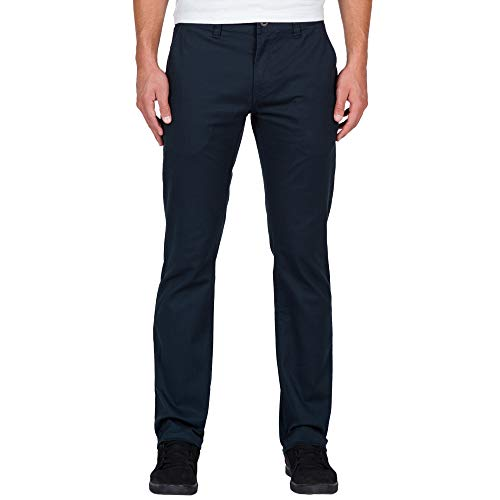 - Volcom Men's Frickin Modern Fit Stretch Chino Pant, Dark Navy 2016, 32
