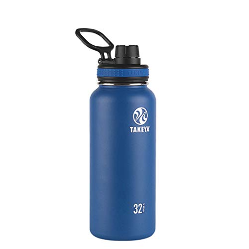 Takeya Originals Vacuum-Insulated Stainless-Steel Water Bottle, 32oz, Navy