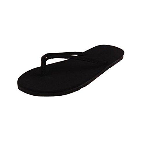 Tongshi Las mujeres tirón del verano de los zapatos sandalias de los fracasos de tirón del deslizador-flops interior y exterior negro