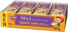 Keebler PB 'n J Sandwich Crackers 8 count (2 Packs) Pb Sandwiches