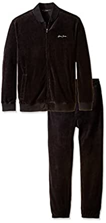 Sean John Men's Big-Tall Limited Addition Velour Set, Pm Black, 4X-Large