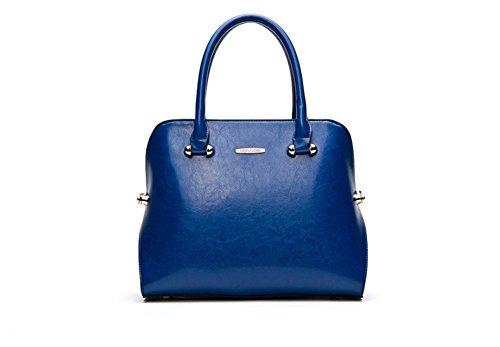 Winter-QCKJ Lorenz-Borsa a tracolla da donna in stile europeo, colore: blu scuro
