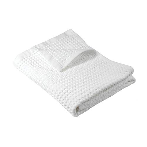 (Gilden Tree 100% Natural Cotton Classic Waffle Weave Hand Towel (White))