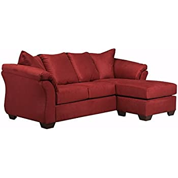 Beau Ashley Furniture Signature Design   Darcy Sofa With Chaise   Contemporary  Style Couch   Salsa
