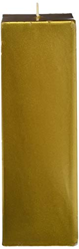 (Zest Candle Pillar Candle, 3 by 9-Inch, Metallic Bronze Gold Square)
