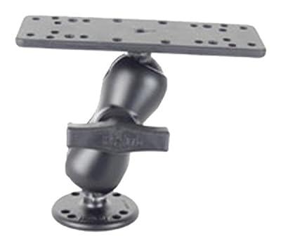 "RAM Mounts (RAM-111U-B) 1.5"" Diameter Ball Mount with Short Double Socket Arm, 6.25"" X 2"" Rectangle Base and 2.5"" Round Base (Amps Hole Pattern)"