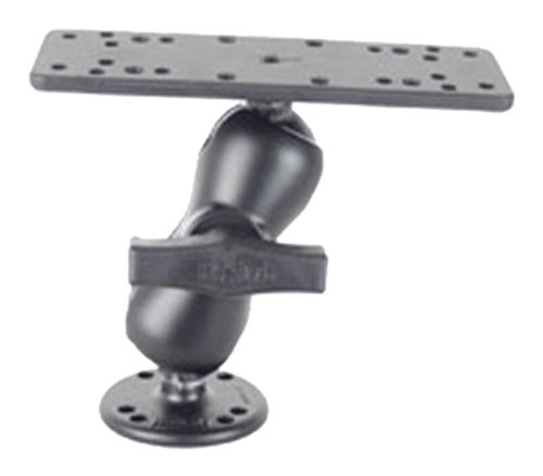 RAM Mounts (RAM-111U-B) 1.5'' Diameter Ball Mount with Short Double Socket Arm, 6.25'' X 2'' Rectangle Base and 2.5'' Round Base (Amps Hole Pattern) by National Products