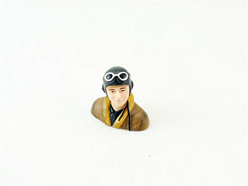 Viloga RC Plane Pilot Figure 1/9 1/6 1/5 Scale Toy Model, Realistic WWII Pilot Figure Character Playing for Fixed Wing Balsa Wood Airplane Kits